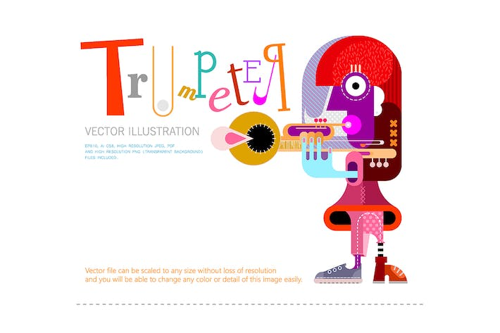Thumbnail for The Musician, Trumpeter vector poster design