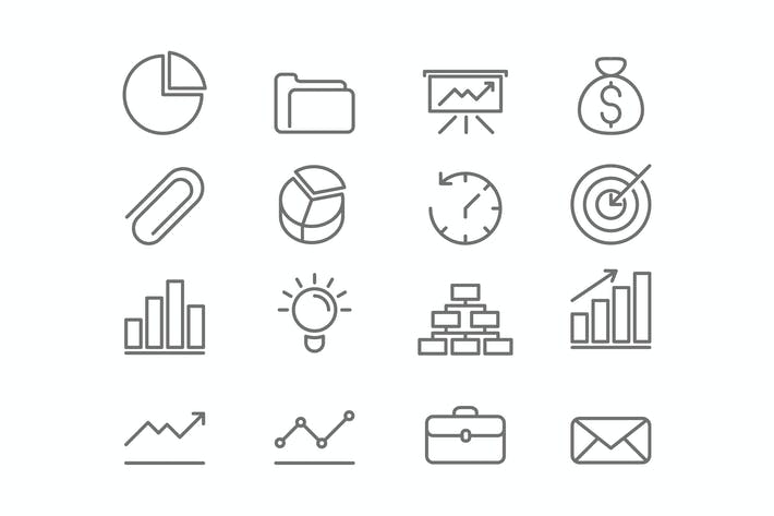 Thumbnail for Business and Finance Icons