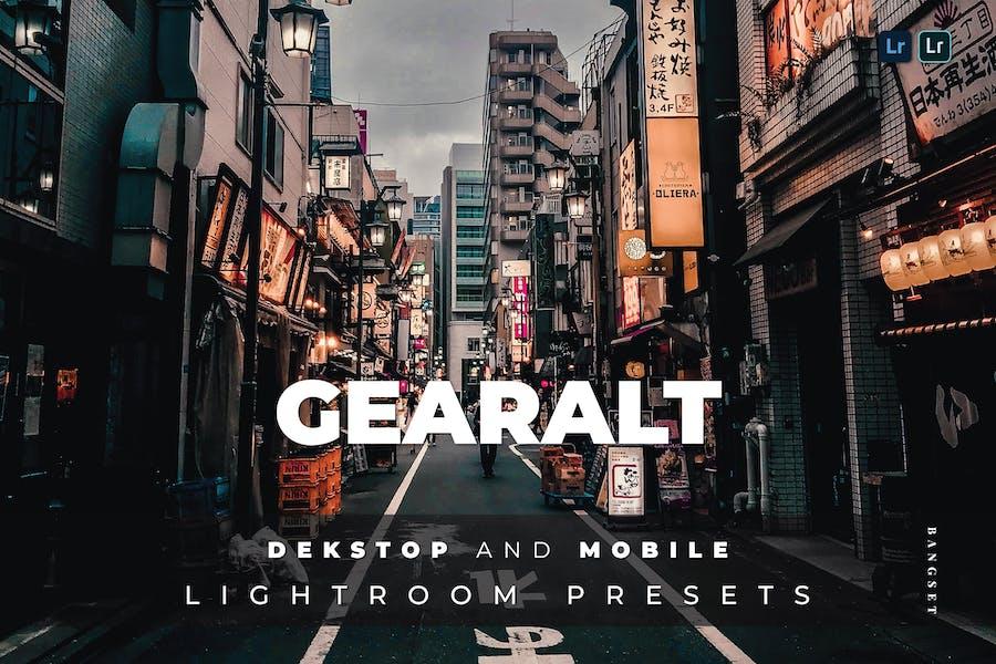 Gearalt Desktop and Mobile Lightroom Preset