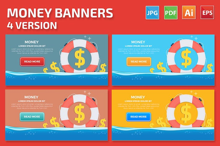 Thumbnail for Money Banners Design