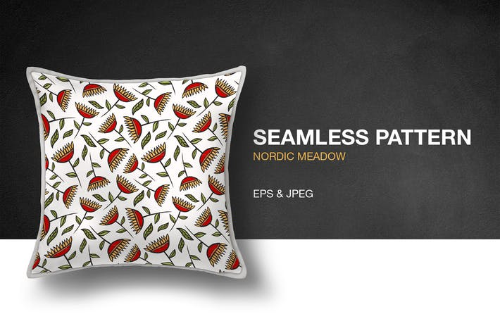 Thumbnail for Nordic Meadow Seamless Pattern