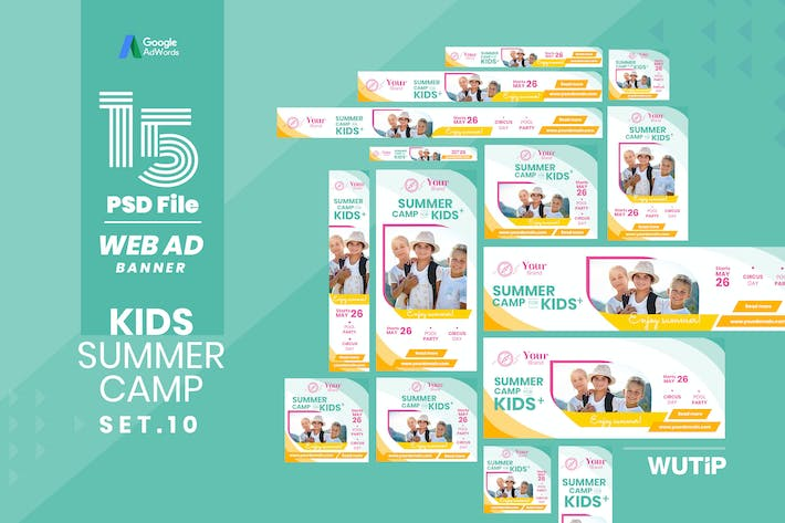 Cover Image For Web Ad Banner-Kids Summer Camp 10