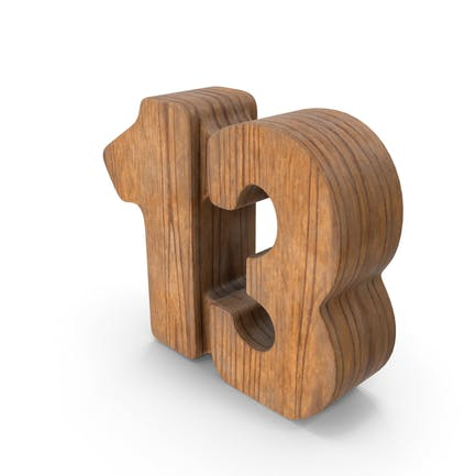 13 Wooden Number