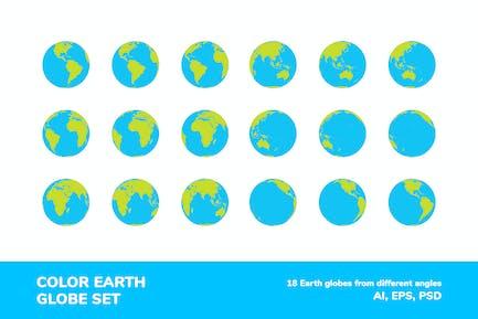 Color Earth Globe Set