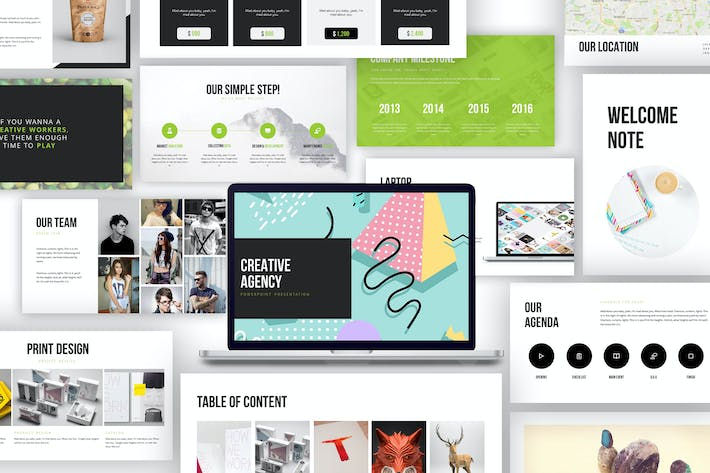 Sloth creative agency powerpoint template by giantdesign on envato thumbnail for creative agency google slide presentation toneelgroepblik Images