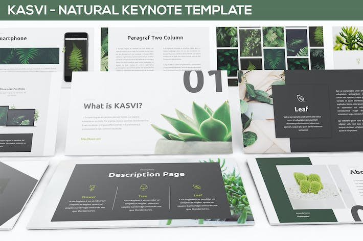 Thumbnail for KASVI - Nature Keynote Template