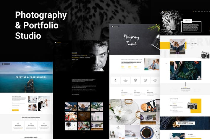 Thumbnail for Photographer, Studio & Portfolio PSD Template