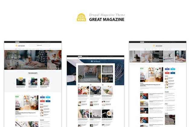 Great Magazine - Responsive Magazine News Drupal 8