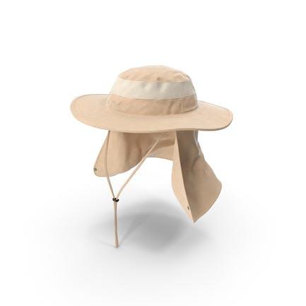 Khaki Outdoor Fischerhut mit abnehmbarer Nackenklappe