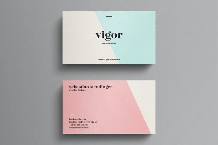 Thumbnail for Elegant pastel business card template