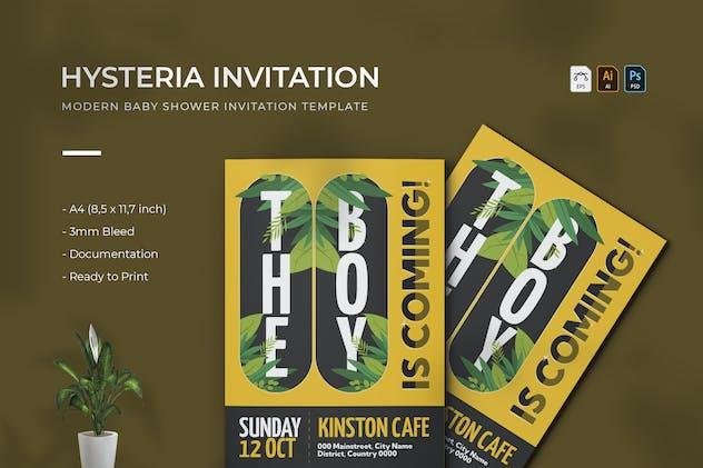 Hysteria | Baby Shower Invitation