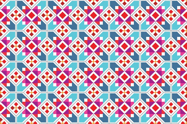 Thumbnail for Geometric vector seamless pattern