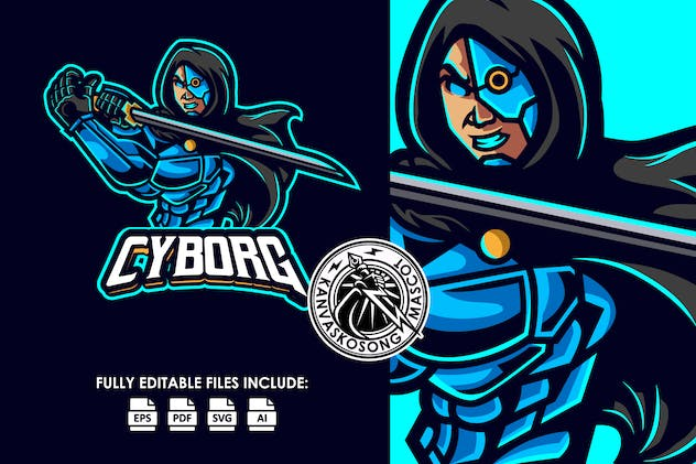 Cyborg Army Logo Template - product preview 0