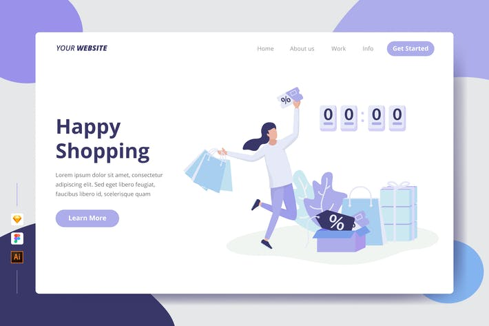 Thumbnail for Happy Shopping - Landing Page