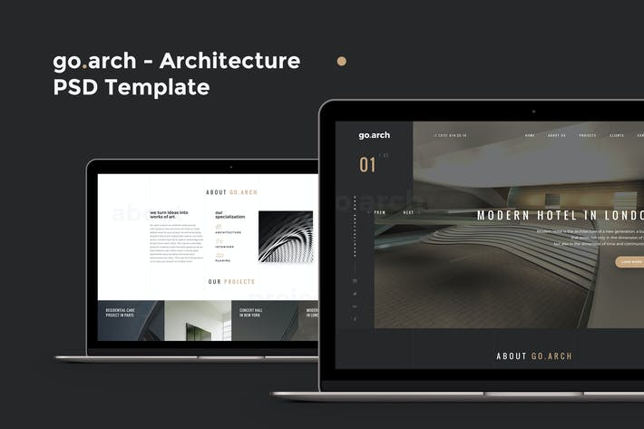 Thumbnail for go.arch - Architecture PSD Template