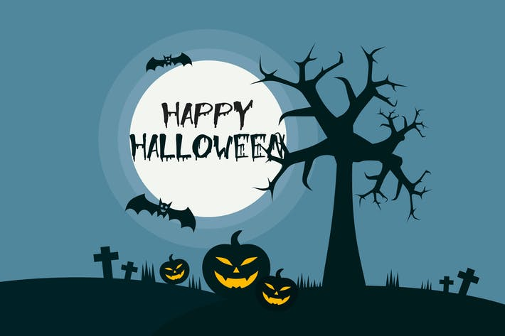 Happy Halloween - Illustration Hintergrund
