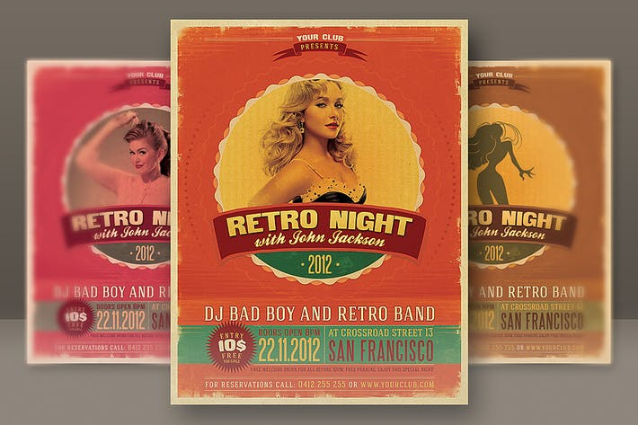 Thumbnail for Retro Style Party Flyer