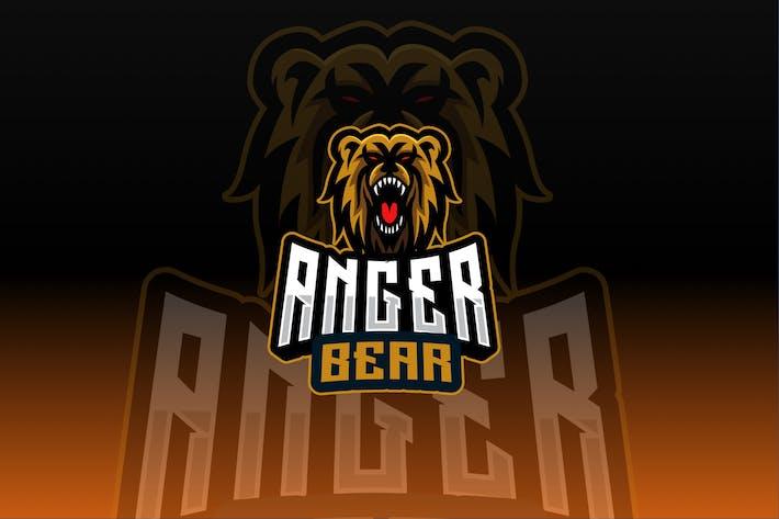 Anger Bear Sport and Esport Logo Template