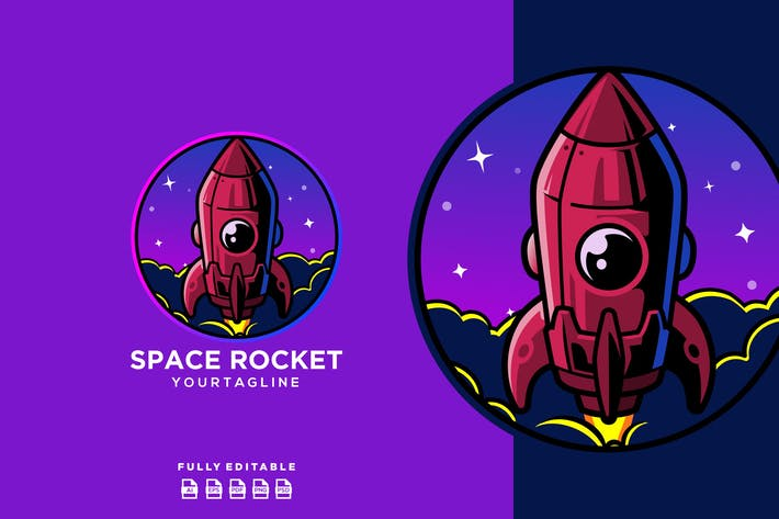 Thumbnail for Spaceship Rocket Planet Logo
