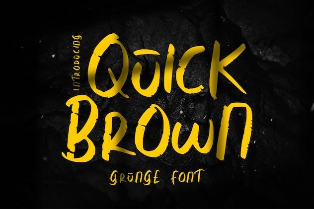 Quick Brown | Grunge Font