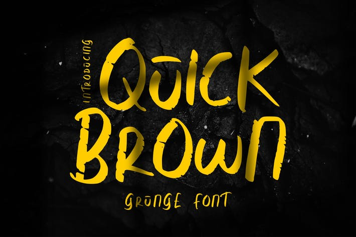 Thumbnail for Quick Brown   Grunge Font