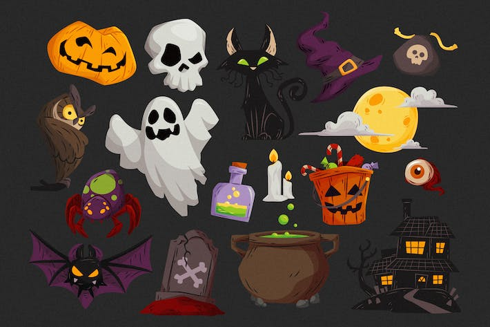 Thumbnail for Halloween Elements Collection #01