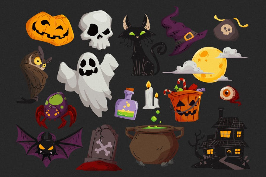 Halloween Elements Collection #01