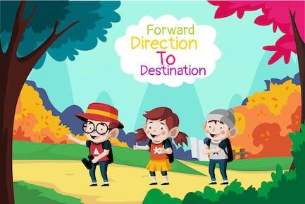 Forward direction - Illustration