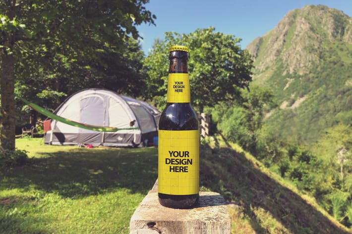 Thumbnail for Camping Beer Mockup