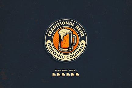 Bier-Abzeichen und EmblemLogo