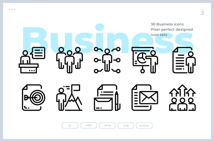 Thumbnail for 30 Business Icons