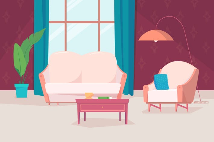 Thumbnail for House Inside - Illustration Background