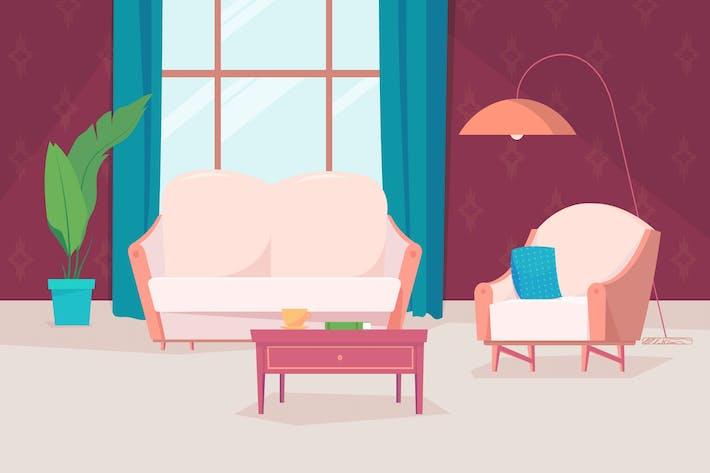 Thumbnail for Дом внутри - Иллюстрационный фон