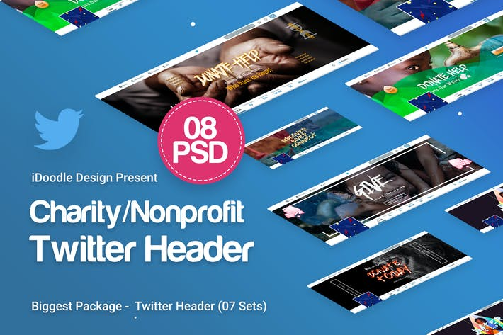 Thumbnail for Charity / Nonprofit / Fundraising Twitter Headers