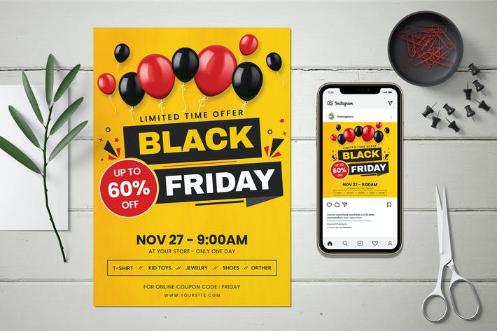Black Friday Flyer and Instagram Post