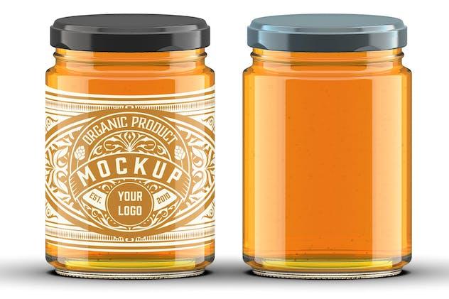 Colored Honey Jar