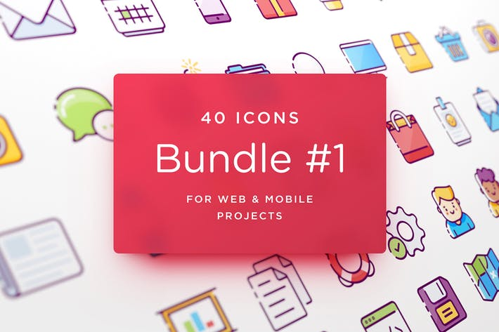 Thumbnail for UI Icons. Bundle #1.