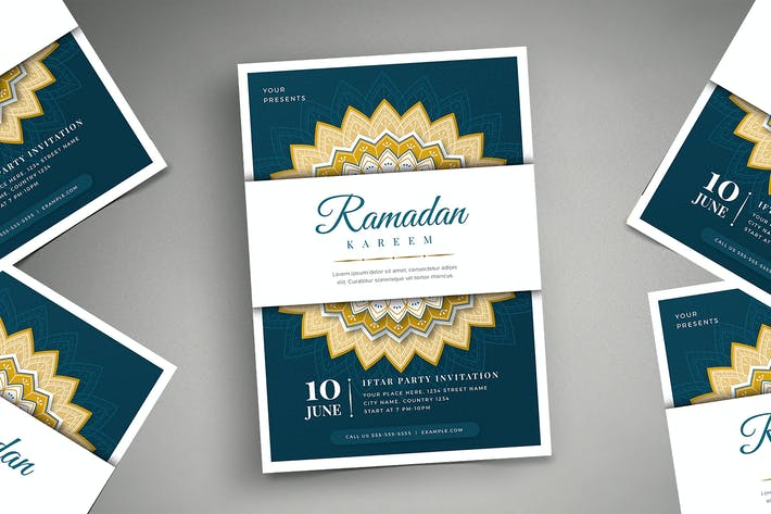 Ramadan Kareem Iftar Party Flyer 02