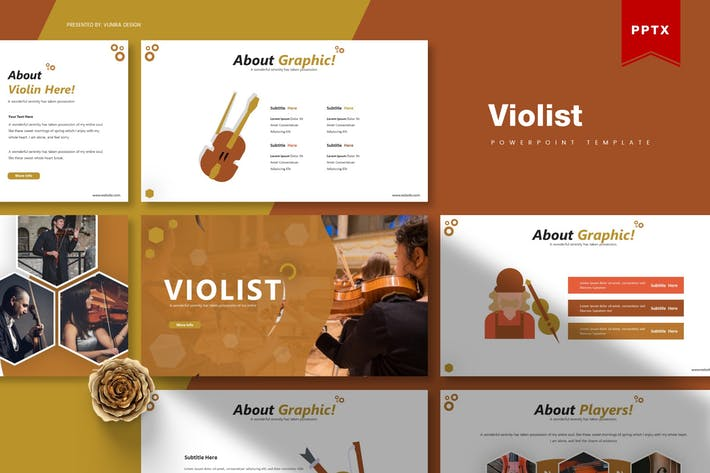 Thumbnail for Violist | Powerpoint Template