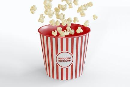 Eimer mit Popcorns Mockup