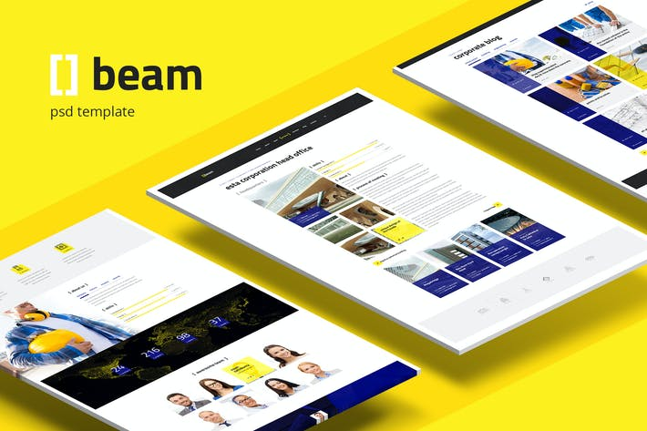 Thumbnail for Viga — PSD Multifunción Moderno para la Construcción