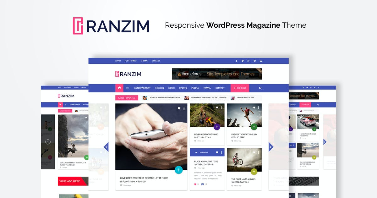 Download Ranzim - Responsive Magazine WordPress Theme by WPmines