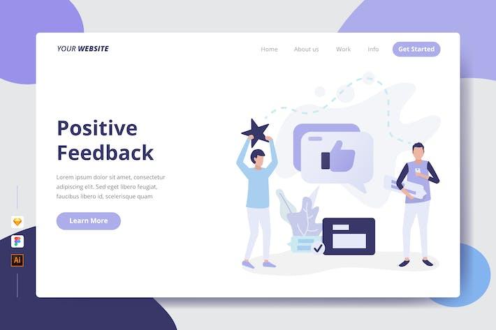 Positives Feedback - Landing Page