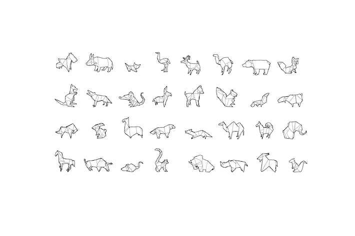 Thumbnail for Hand Drawn Origami Animals Pack