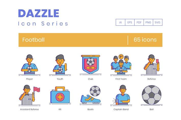 Thumbnail for 65 Football (Soccer) Line Icons