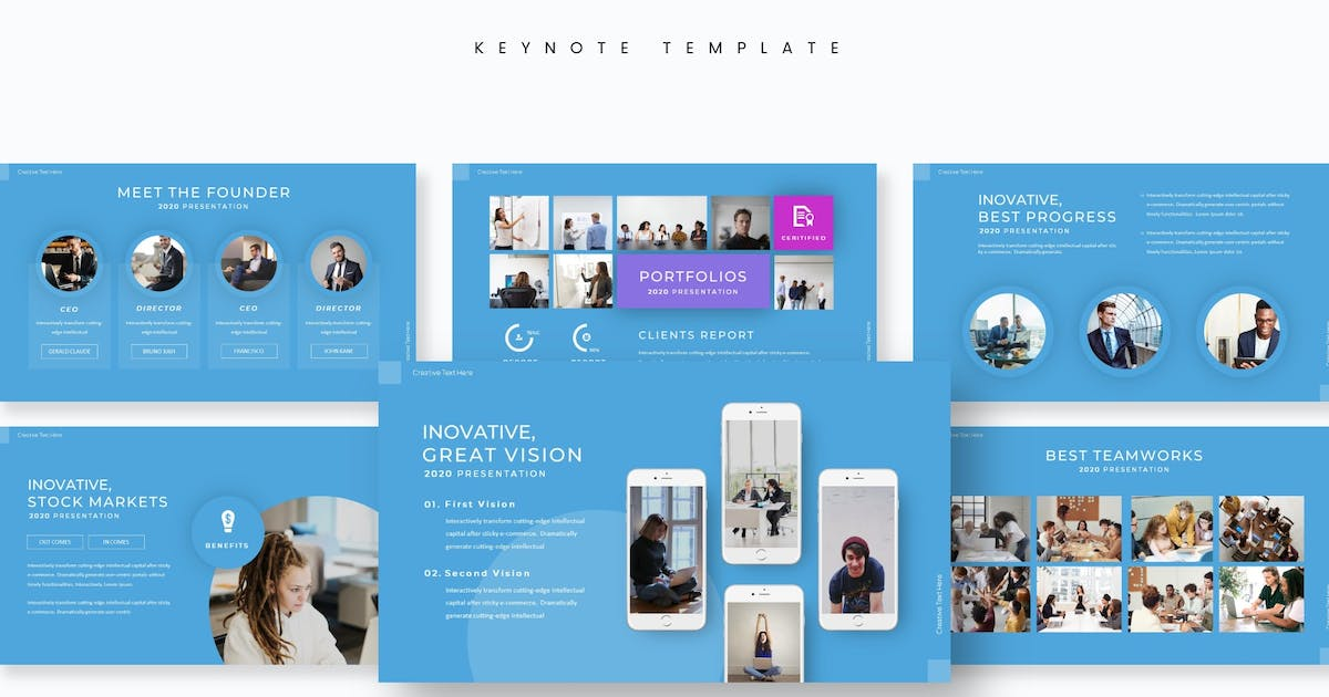Download Bluesiness - Keynote Template by aqrstudio