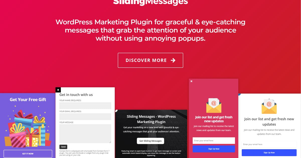 Download WordPress Marketing Plugin – Sliding Messages by appscreo