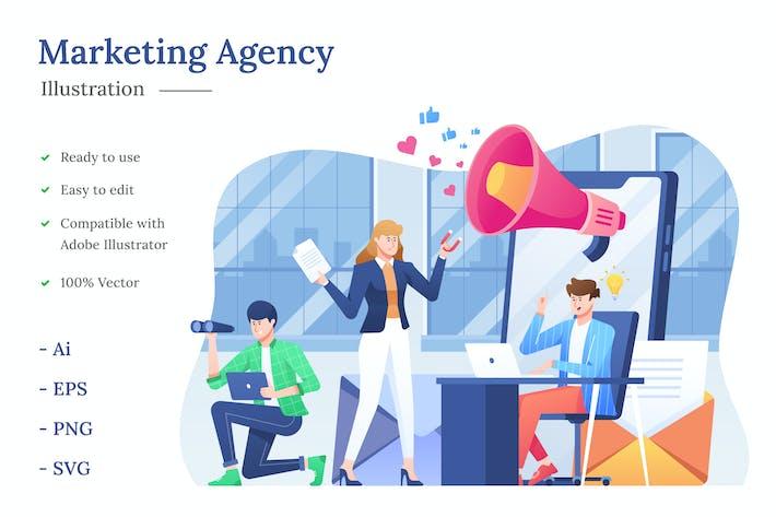 Thumbnail for Marketing Agency Illustration