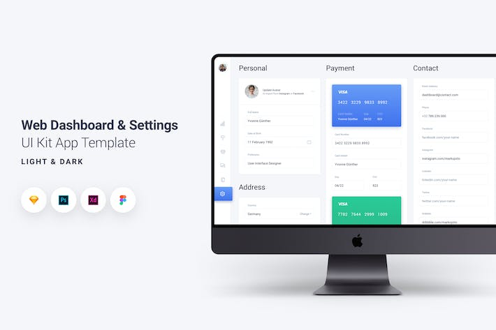 Thumbnail for Web Dashboard & Settings UI Kit App Template 6