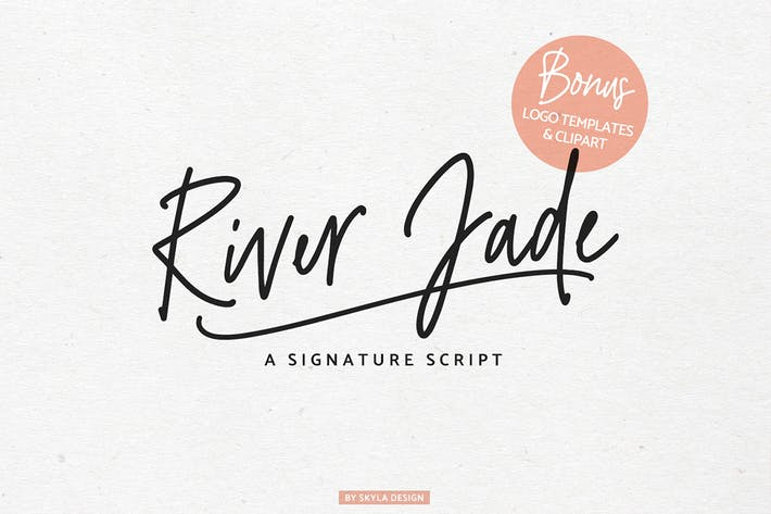 Thumbnail for River Jade, Signature Font & Logos